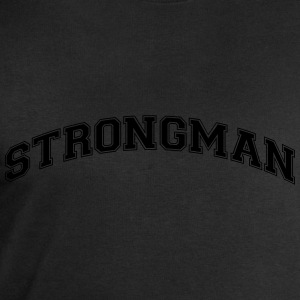 strongman college style curved logo - Men's Sweatshirt by Stanley & Stella
