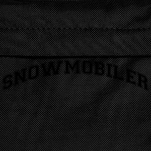 snowmobiler college style curved logo - Kinder Rucksack