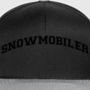 snowmobiler college style curved logo - Snapback Cap