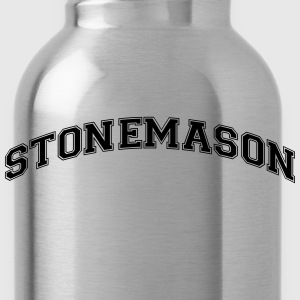 stonemason college style curved logo - Water Bottle