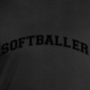softballer college style curved logo - Men's Sweatshirt by Stanley & Stella
