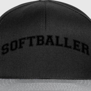 softballer college style curved logo - Snapback Cap