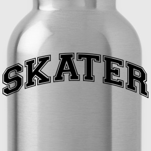 skater college style curved logo - Water Bottle