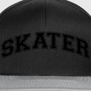 skater college style curved logo - Snapback Cap