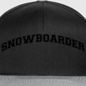 snowboarder college style curved logo - Snapback Cap