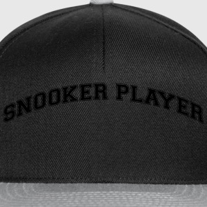 snooker player college style curved logo - Snapback Cap