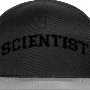 scientist college style curved logo - Snapback Cap