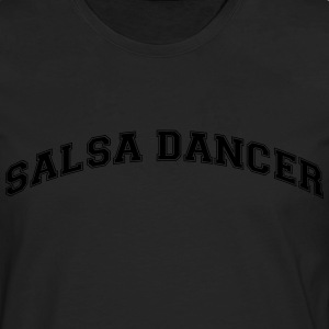 salsa dancer college style curved logo - Men's Premium Longsleeve Shirt