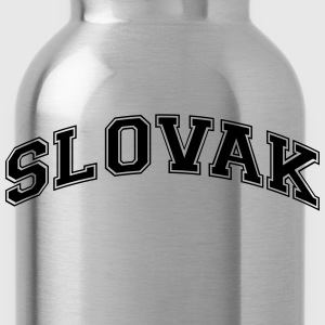 slovak  college style curved logo - Water Bottle