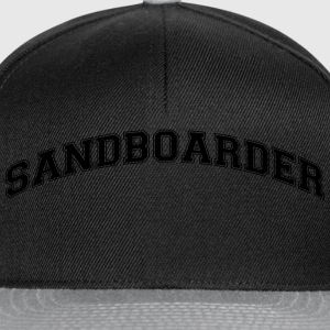 sandboarder college style curved logo - Snapback Cap