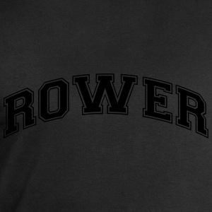 rower college style curved logo - Men's Sweatshirt by Stanley & Stella