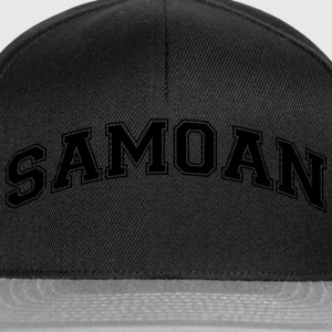 samoan  college style curved logo - Snapback Cap
