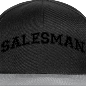 salesman college style curved logo - Snapback Cap