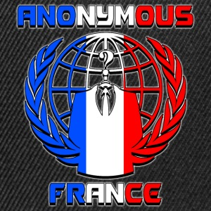 anonymous france Tee shirts - Casquette snapback