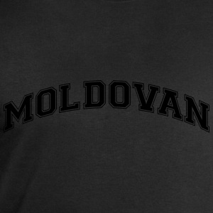 moldovan  college style curved logo - Men's Sweatshirt by Stanley & Stella