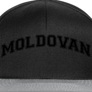 moldovan  college style curved logo - Snapback Cap