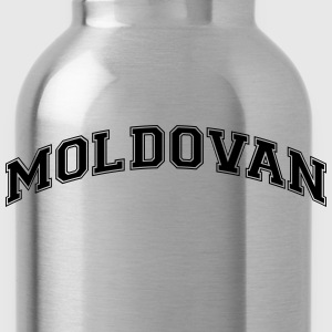 moldovan  college style curved logo - Water Bottle