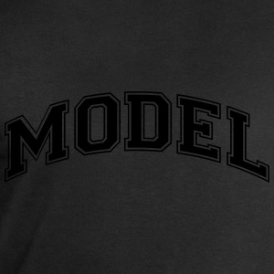 model college style curved logo - Men's Sweatshirt by Stanley & Stella