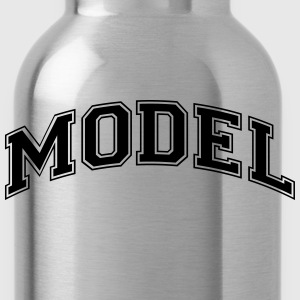 model college style curved logo - Water Bottle