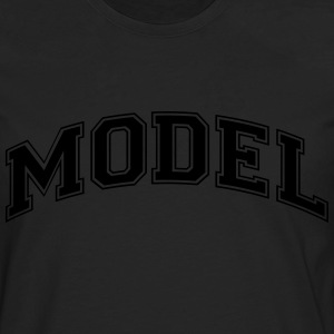model college style curved logo - Men's Premium Longsleeve Shirt