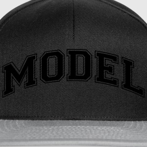 model college style curved logo - Snapback Cap