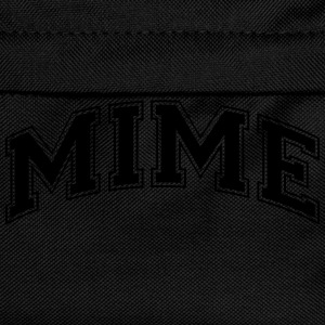 mime college style curved logo - Kids' Backpack
