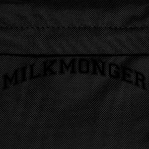 milkmonger college style curved logo - Kids' Backpack