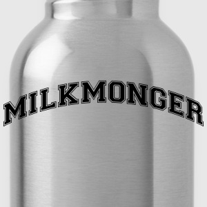 milkmonger college style curved logo - Water Bottle