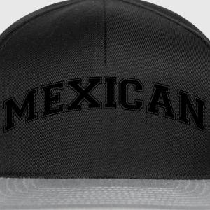 mexican  college style curved logo - Snapback Cap