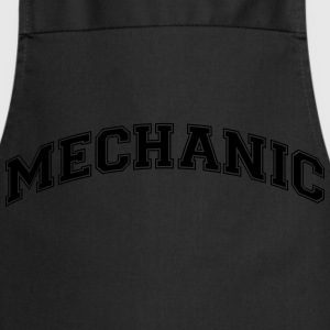 mechanic college style curved logo - Cooking Apron