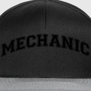 mechanic college style curved logo - Snapback Cap