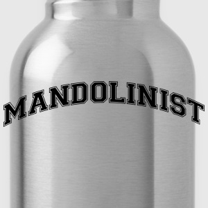 mandolinist college style curved logo - Water Bottle
