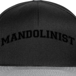 mandolinist college style curved logo - Snapback Cap