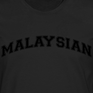 malaysian  college style curved logo - Männer Premium Langarmshirt