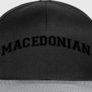 macedonian  college style curved logo - Snapback Cap