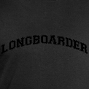 longboarder college style curved logo - Men's Sweatshirt by Stanley & Stella