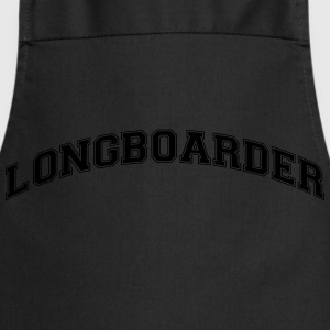 longboarder college style curved logo - Cooking Apron