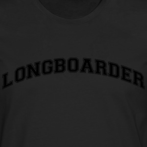 longboarder college style curved logo - Men's Premium Longsleeve Shirt