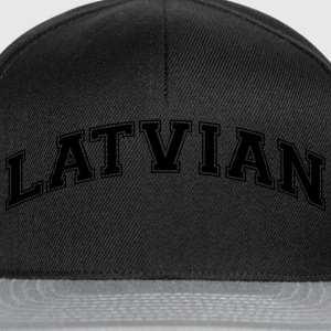 latvian college style curved logo - Snapback Cap