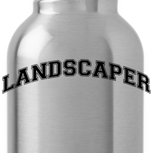 landscaper college style curved logo - Water Bottle