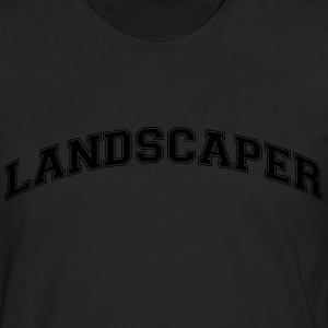 landscaper college style curved logo - Men's Premium Longsleeve Shirt