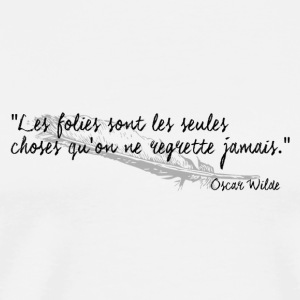 Oscar Wilde - Citation - T-shirt Premium Homme