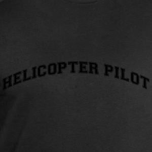 helicopter pilot college style curved lo - Men's Sweatshirt by Stanley & Stella