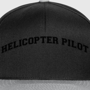 helicopter pilot college style curved lo - Snapback Cap