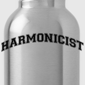 harmonicist college style curved logo - Water Bottle