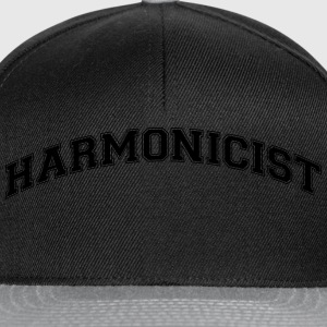 harmonicist college style curved logo - Snapback Cap