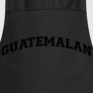guatemalan college style curved logo - Cooking Apron