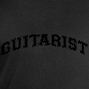 guitarist college style curved logo - Men's Sweatshirt by Stanley & Stella