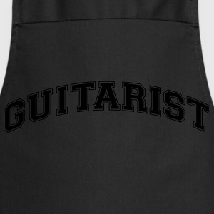 guitarist college style curved logo - Cooking Apron