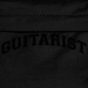 guitarist college style curved logo - Kids' Backpack